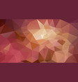 abstract irregular polygonal background brown pink vector image vector image
