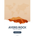 australia ayers rock time to travel travel vector image