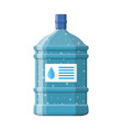 big bottle with clean water for cooler vector image vector image