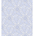 Blue ethnic shell pattern vector image vector image