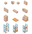 Boxes and shelving vector