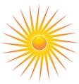 bright sun symbol vector image