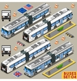 Bus Set 04 Vehicle Isometric vector image vector image
