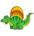 cartoon small dinosaur vector image
