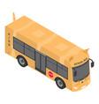 cat school bus icon isometric style vector image