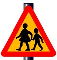 Children Crossing Traffic Sign vector image vector image