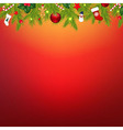 Christmas Border With Garland vector image vector image
