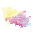 colorful watercolor background vector image vector image