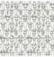 Cute cats seamless pattern vector image vector image