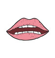 digitally drawn lips design hand drawing style vector image vector image