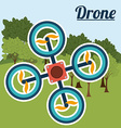 Drone design vector image