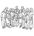 fifteen people standing together vector image vector image