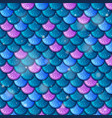 fish scale seamless pattern background vector image