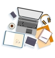 Flat design mockup per office workspace vector image