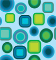 geometric pattern blue green vector image vector image