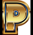 Golden Font Letter P vector image