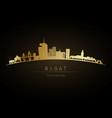golden logo rabat skyline silhouette vector image vector image