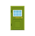 green front door to house closed elegant door vector image vector image