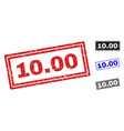 grunge 1000 textured rectangle stamp seals vector image vector image