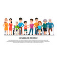 help disabled person happy disability people vector image vector image