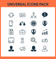 hr icons set with man resume vacancy business vector image vector image