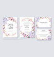 hydrangea flower wedding invitation card template vector image vector image