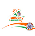 Indian Republic day vector image vector image