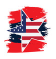 isolated empty american emblem vector image