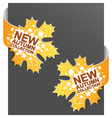 left and right side sign new autumn collection vector image vector image