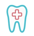 logo combination medical cross and tooth vector image vector image