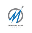m letter logo business template vector image vector image