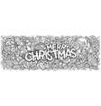merry christmas doodles new year vector image vector image