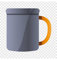 metal mug icon cartoon style vector image