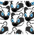 mug animal badger decorative pattern on white vector image vector image