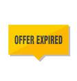 offer expired price tag vector image vector image