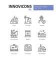 oil industry - line design style icons set vector image vector image