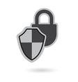 padlock shield vector image