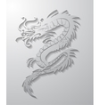 paper cut out of a Dragon china vector image