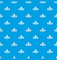 pearl travel pattern seamless blue vector image vector image