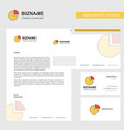 pie chart business letterhead envelope and vector image vector image