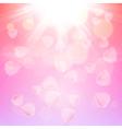 Pink rose petals background vector image
