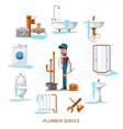 Plumber or maintenance engineer at plumbing work vector image