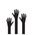 raise hands icon flat vector image vector image