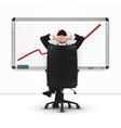 Relaxing successful businessman leaning back vector image