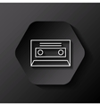 retro casette icon vector image vector image