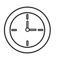 round clock time hour decoration element line vector image vector image