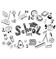 school items set vector image vector image
