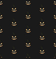 seamless pattern with halloween pumpkins with vector image vector image