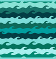 seamless pattern with stylized sea waves vector image vector image