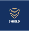 security agency shield logo design template vector image